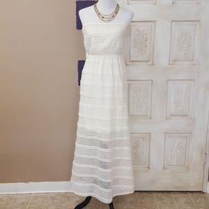 Strapless lace summer dress